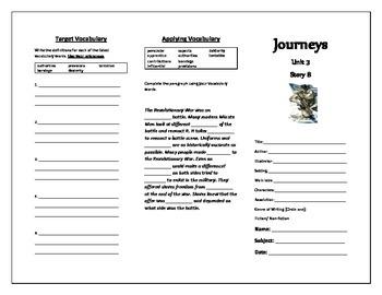 Journeys Grade 5 Trifold (Modern Minute Man)
