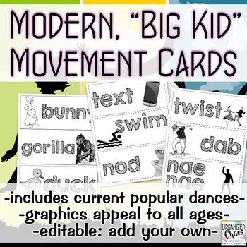 Modern Movement Cards for Big Kids