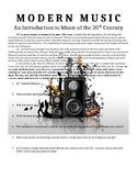 Modern Music Research Project