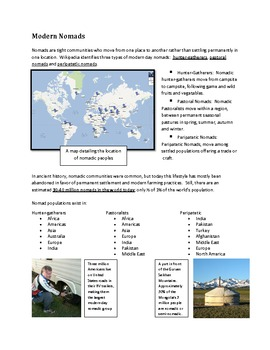 Modern Nomads Research Worksheet