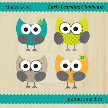 Modern Owl Digital Art - Clip Art