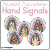 Modern Pastel Rainbow Hand Signals