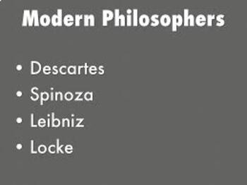 Modern Philosophers and Their Contributions