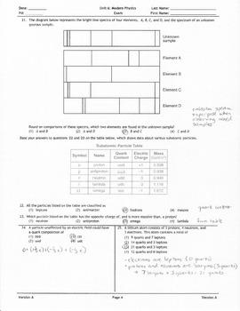 Modern Physics Exam Answer Key