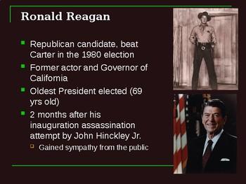 Modern Presidents 1980-2008 - powerpoint