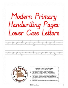 Modern Primary Handwriting Pages Lower Case Letters
