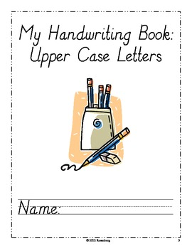Modern Primary Handwriting Pages Upper Case Letters
