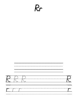 Modern Primary Letter Handwriting Pages