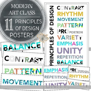 Modern Principles of Design Printable Posters: 11 Posters for your Art Classroom
