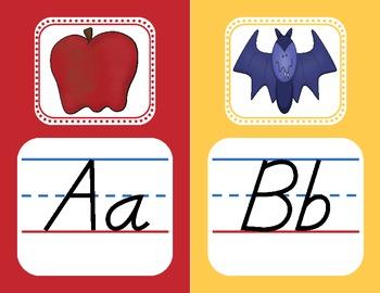 Modern Print Alphabet Wall Cards