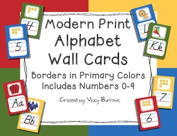 Modern Print Alphabet Wall Cards