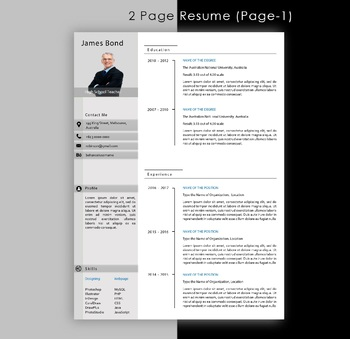 Modern Resume Format : Resume with Simple style for the Teachers