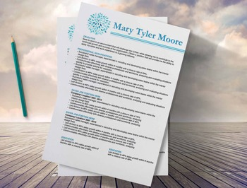 Modern Resume Template 3 page | MS Word | Instant Digital Download | Blue Resume