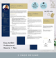 Modern Resume Template with Photo in Navy & Gold ALL-IN-ONE for Mac Pages & Word