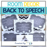 Speech Room Decor:  Modern Rustic