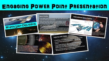 Modern Space Exploration No Prep Lesson with Power Point, Worksheet, and Bonus