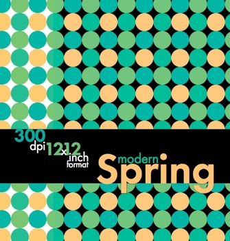 Modern Spring, Sophisticated Clip Art, Borders & Backgrounds – Easy Printing