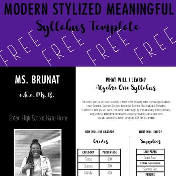 Modern Stylized Meaningful Syllabus