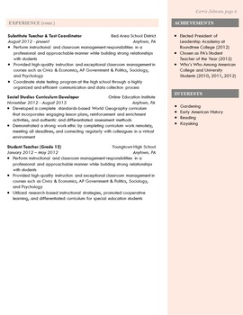 modern teacher resume coral template by redappleresumes tpt