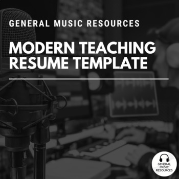Modern Teaching Resume Template Rev 2 2019