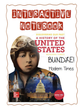 Modern Times FULL YEAR BUNDLE:History of the United States Interactive Notebook