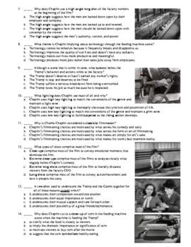 Modern Times Film (1936) 5-Question Multiple Choice Quiz