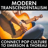 Transcendentalism, Connect Thoreau & Emerson to Modern Pop Culture, CCSS