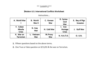 Modern U.S. International Conflicts Post -WWI.