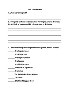 Modern U.S. Quiz-Immigrants in the United States
