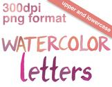 Modern Watercolor Alphabet Clip Art