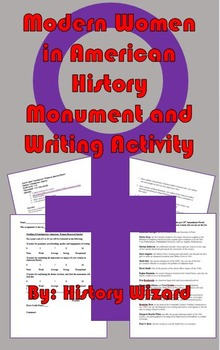Modern Women in American History Monument/Writing Activity