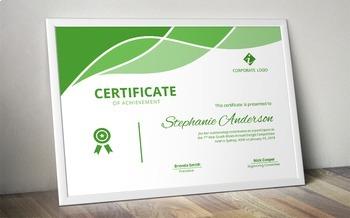 Modern Word certificate template