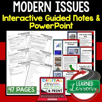 modern world history guided notes powerpoints digital and print