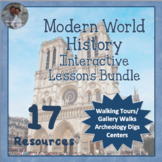 Modern World History Interactive Lessons Bundle Walking Tours & More
