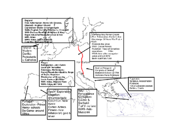 Modern World History Map and Information Review