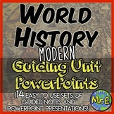 World History II PowerPoint Bundle: 14 Guided Note Sets fo