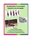 Modern World History Final Project Bundle: Fashion, Sports, Technology