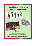 Modern World History Final Project Bundle: Fashion, Sports