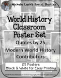 Modern World History Quotes Posters Bulletin Board Wall Decor Set