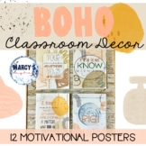 Modern boho Neutral inspirational posters, Motivational signs for bulletin board