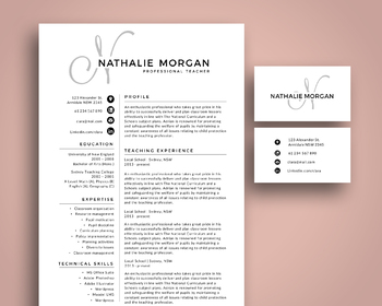 Modern initial monogram resume pack template for MS PowerPoint (NR021)