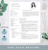 Modern resume template with pictures ,Simple resume in whi