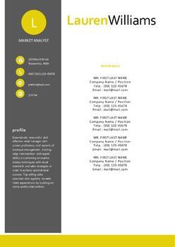 Modern style 2 in 1 Word resume