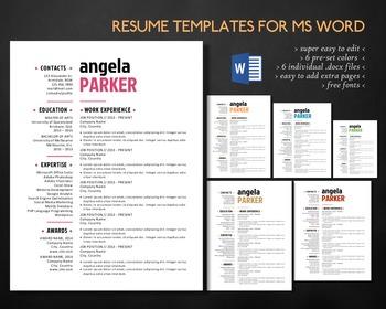 Modern style 2 in 1 Word resume