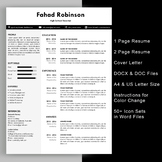 Modern teacher resume template with cover letter editable