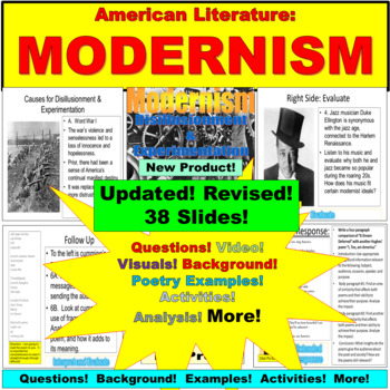 American Literature: Modernism, Activities, Background, Questions