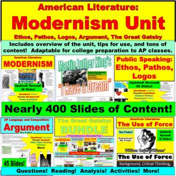 AP Language and Composition Unit: Ethos Pathos Logos, Argument, Modernism