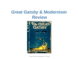 Modernism and Great Gatsby Review Slide Show