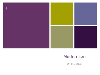 Modernism and Imagism