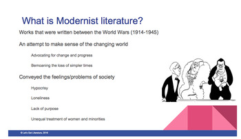 Modernist Literature Introductory Packet